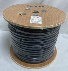 RG59 & 12 Vdc CCTV Sat Cable (100m) Black